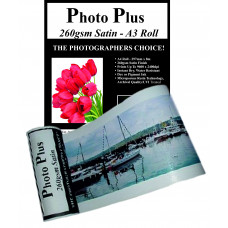 PhotoPlus Photo Paper A3 Panoramic Premium Satin Rolls 260gsm, 297mm x 8m.