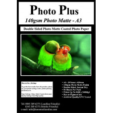 PhotoPlus 140gsm Double Sided A3 Matte Coated Paper, 50 Sheets.